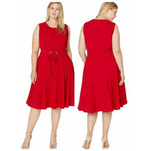 City Chic Red Wimbledon Fit And Flare Dress 24 NWT